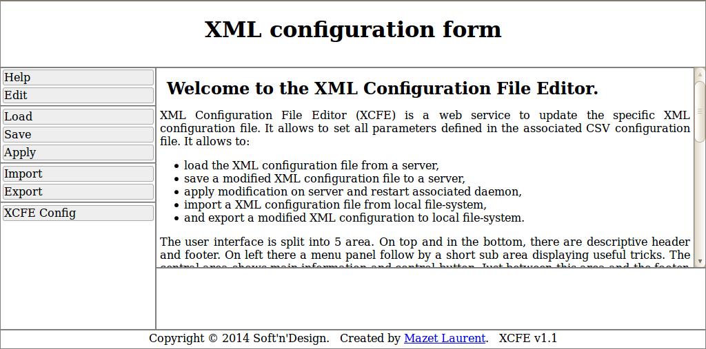 XML Configuration File Editor